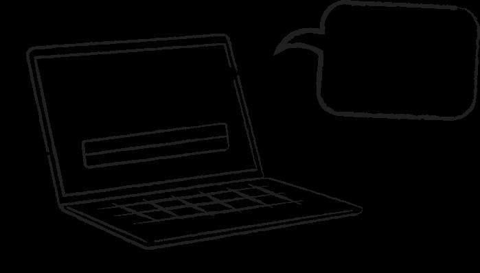 laptop cartoon, frustrated