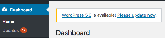 wordpress update 5.6 alert