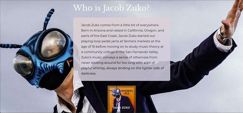 zuko website page